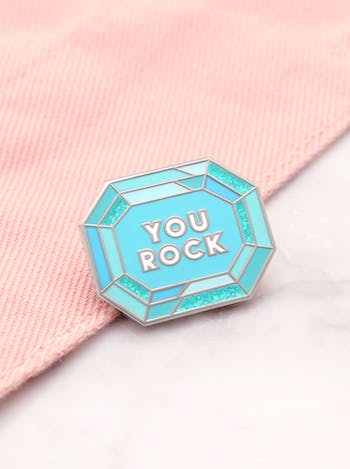 You Rock | Enamel Pin | Alphabet Bags