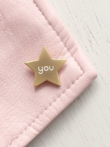 You Star Enamel Pin | Hard Enamel Pins | Alphabet Bags