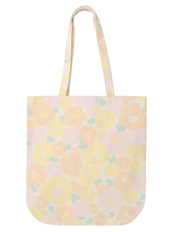 Floral Canvas Bag | Flower Shopping Bag | Alphabet Bags