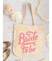 Bride To Be - Floral Canvas Wedding Bag