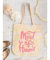 Maid of Honour - Floral Canvas Wedding Bag