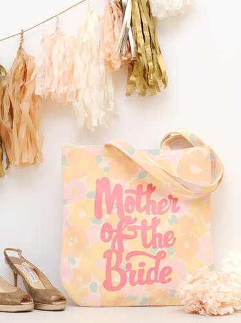 Floral Mother of the Bride Tote Bag | Mother of the Bride Canvas Bag | Alphabet Bags