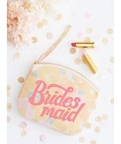 Bridesmaid - Floral Canvas Wedding Pouch