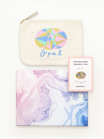Birthstone Pouch & Pin | Gift Set | Alphabet Bags