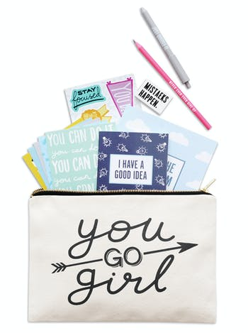 You Go Girl Goody Pouch | Pencil Pouch | Alphabet Bags
