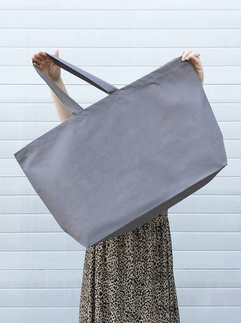 Grey Canvas Really Big Bag | Oversized Totes | Alphabet Bags