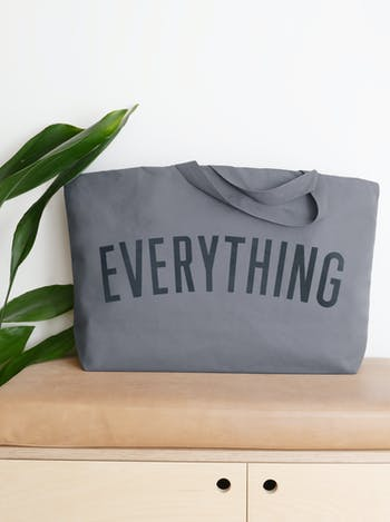 EVERYTHING Grey Really Big Bag | Slogan Totes | Alphabet Bags