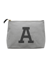 Initial Wash Bag - Grey