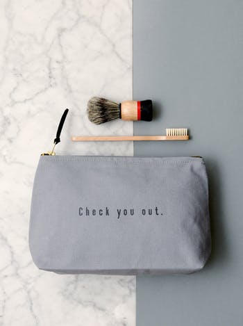 Check You Out Washbag | Gifts For Dad | Alphabet Bags