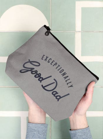 Exceptionally Good Dad Washbag | Gifts For Dad | Alphabet Bags