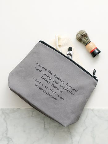 The Kindest Father Washbag | Gifts For Dad | Alphabet Bags