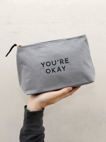 You're Okay Washbag | Gifts For Dad | Alphabet Bags
