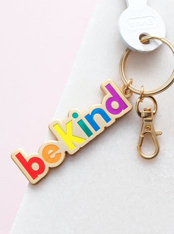 Be Kind | Enamel Keyring | Alphabet Bags