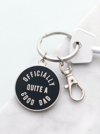 Officially Quite a Good Dad | Enamel Keyring | Alphabet Bags