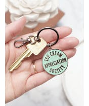 Ice Cream Appreciation Society - Enamel Keyring