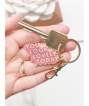 You Look Lovely Today - Enamel Keyring