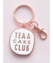 Tea & Cake Club - Enamel Keyring
