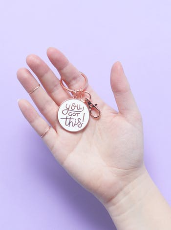 You Got This | Enamel Keyring | Alphabet Bags