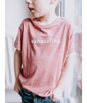 Exhausting - Mauve Kids T-Shirt