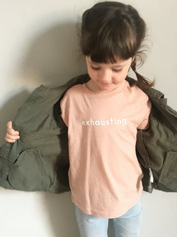 Exhausting - Peach Kids T-Shirt