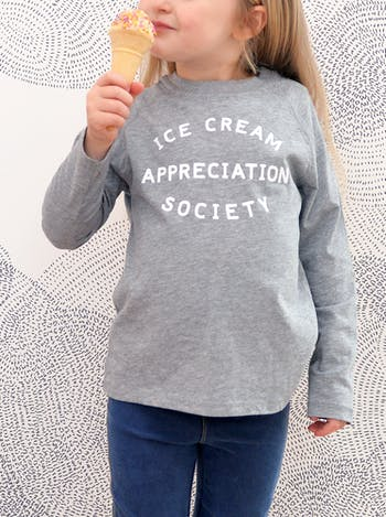 Ice Cream Appreciation Society | Kid's T-Shirt | Alphabet Bags