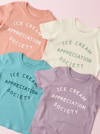 Ice Cream Appreciation Society Lavender | Kid's T-Shirt | Alphabet Bags