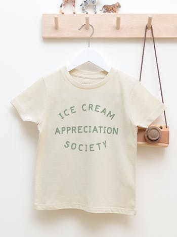 Ice Cream Appreciation Society Natural Fleck | Kid's T-Shirt | Alphabet Bags
