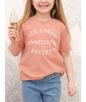 Ice Cream Appreciation Society - Kid's Tee - Peach