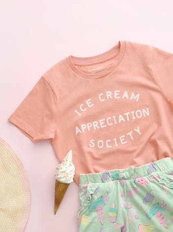 Ice Cream Appreciation Society Peach | Kid's T-Shirt | Alphabet Bags