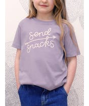 Send Snacks - Kid's T-Shirt - Lavender