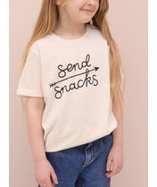 Send Snacks - Kid's T-Shirt - Natural Fleck