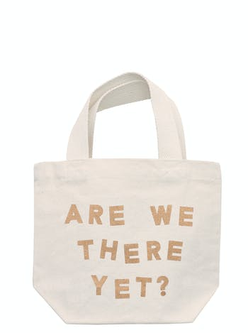 Are We There Yet Tote Bag | Kid's Beach Tote | Alphabet Bags