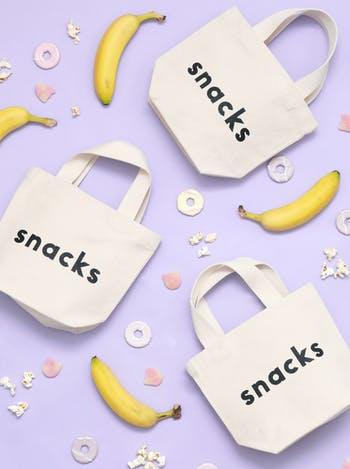 Snacks Tote Bag | Kid's Beach Tote | Alphabet Bags