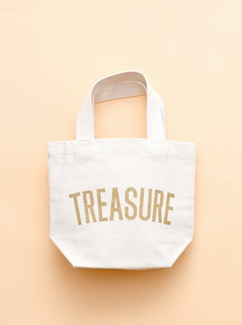 Treasure Tote Bag | Kid's Beach Tote | Alphabet Bags