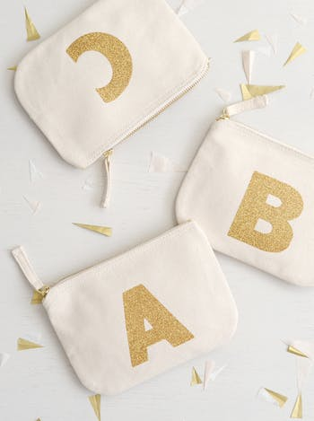 Little Glitter Initial Pouch - Seconds