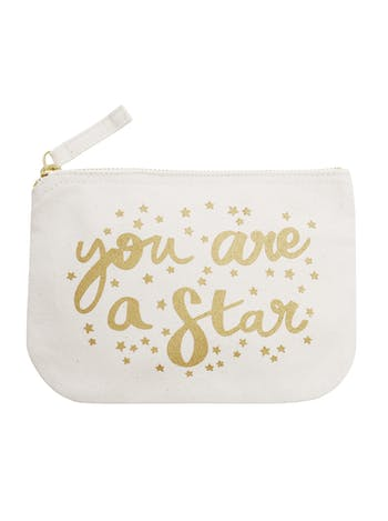 You Are A Star Canvas Pouch | Thank You Gifts | Alphabet Bags
