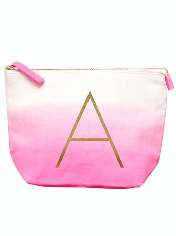 Initial Ombre Makeup Bag