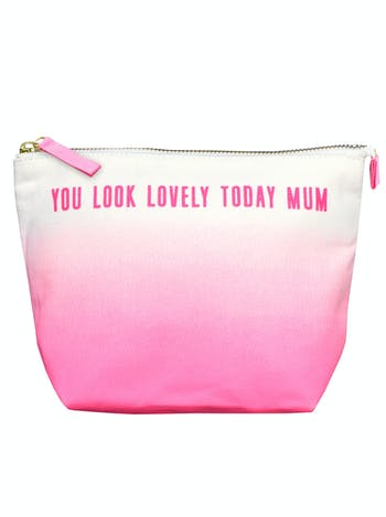 You Look Lovely Today Mum Makeup Bag | Gifts For Mothers | Alphabet Bags