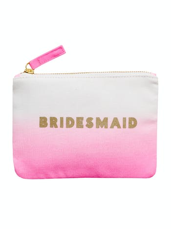 Bridesmaid Ombre Wedding Pouch | Bridal Party Bags | Alphabet Bags