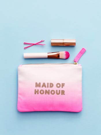 Maid of Honour Ombre Wedding Pouch | Bridal Party Bags | Alphabet Bags