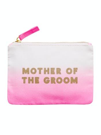 Mother of the Groom Ombre Wedding Pouch | Bridal Party Bags | Alphabet Bags
