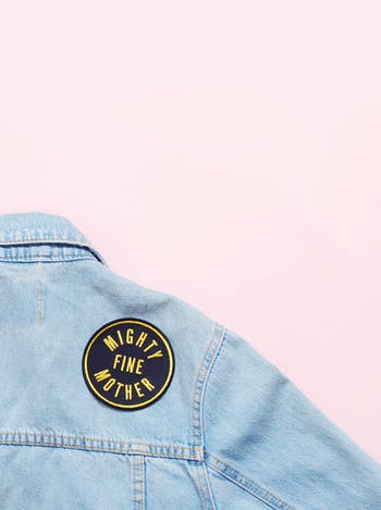 Mighty Fine Mother Embroidered Patch | Gifts For New Mums | Alphabet Bags