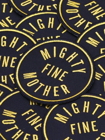 Mighty Fine Mother Embroidered Patch   Gifts For New Mums   Alphabet Bags