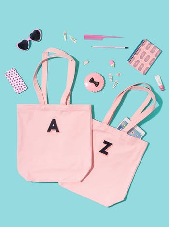 Pink Embroidered Bags | Personalised Bags & Gifts For Her | Alphabet Bags
