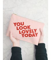 You Look Lovely Today - Blush Pink Pouch