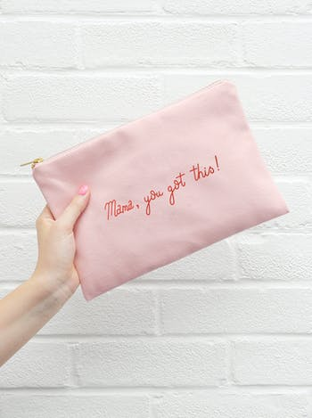 Mama, You Got This Pink Canvas Pouch | Makeup Bag | Alphabet Bags