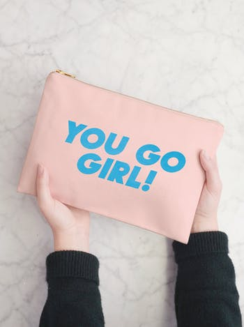 You Go Girl - Blush Pink Pouch - Second