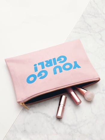 You Go Girl - Blush Pink Pouch