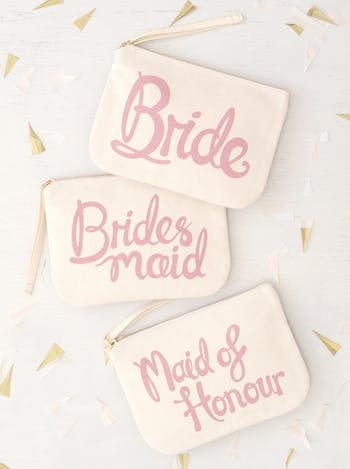 Maid of Honour Pouch | Wedding Party Bags | Alphabet Bags