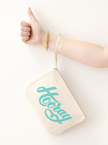 Hip Hip Hooray Canvas Pouch | Celebration Pouch | Alphabet Bags